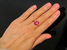 Pink Color Topaz Vintage Russian Soviet USSR ROSE Gold 14K Women Ring Size 11.5
