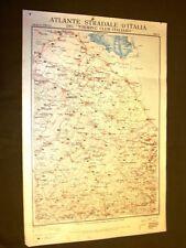 Carta geografica o mappa Ravenna San Marino Cervia Touring Club Italiano 1922