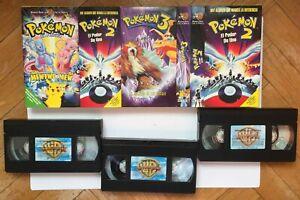 Pack 3 cintas vídeo VHS: POKÉMON (Warner Bross, 2001) ¡Originales! Coleccionista