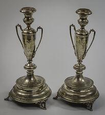 Austrian Silver Pair of Candelabra, Late 19th Century