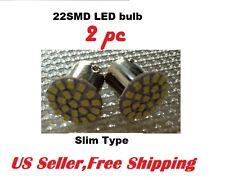 2 x White 22 SMD LED Bulb 1156 67 for license plate Reverse Slim