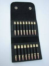 Leather AMMO wallet pouch.222 .223 holds 16 rounds //