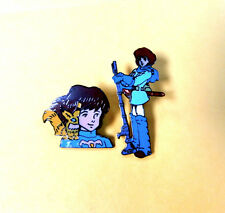 NAUSICAA HEAD/ STANDING VALLEY OF THE WIND  ENAMEL PIN   FROM JAPAN VINTAGE MINT