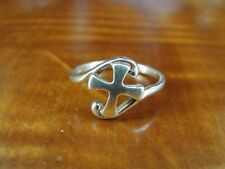 925 Ring Size 6 1/4 Cross with Curves Band Sterling Silver