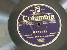 78rpm RUSSIAN BALALAIKA ORCH wieniawski - mazurka / schubert - moment musical