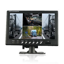 9inch car Monitor /4 video input /4 Split Quad TFT Lcd Monitor For Truck Bus