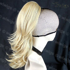 Wiwigs Clip In Wavy Blonde Mix Ponytail Hairpiece Extension