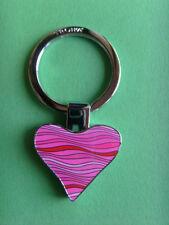 TROIKA  Schlüsselanhänger WAVY HEART KR10-27/CH Herz pink keyring