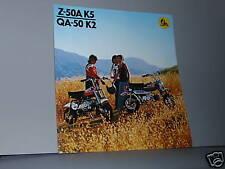 1974 Honda Z50A K5 / QA50 K2 Motorcycle Sales Brochure / Poster - Literature