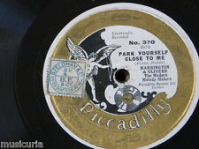 78rpm HARRINGTON & OLIVERE park yourself close to me / talkies the whole of the