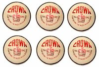 "6X CW ""CROWN WHITE"" HIGH Quality 4 Piece Cricket Ball -156 g+A Grade"