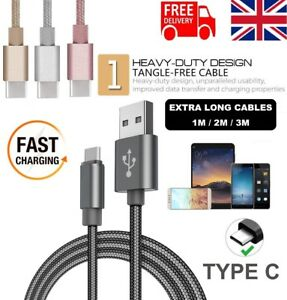 For Samsung Galaxy S9,S9+ S8 Edge Fast Charger Lead Data USB Lead Cable C-Type