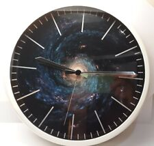 """hito """"The Universe"""" Silent Wall Clock Non Ticking 12 in. Accurate Sweep Movement"""