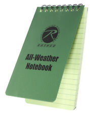 "notebook waterproof writing paper all weather 3"" x 5"" rothco 470"