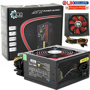 750W ACE Black PC Power Supply Unit Quiet 12cm Red Fan PSU ATX 6-Pin PCI-E SATA