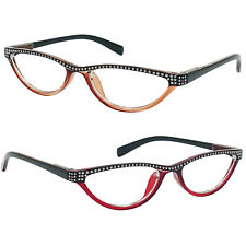 Small Cat Eye Reading Glasses 4 Color Choice Rhinestone Readers