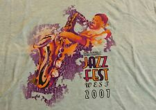 2007 Old Pasadena CA Jazz Festival California T-Shirt Size 4XL Gray Fest Concert