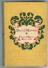 David Harum by Edward Noyes Westcott 1899 Hardcover