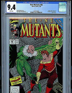 New Mutants #86 CGC 9.4 NM Marvel Comics 1990 1st Cable Cameo K7