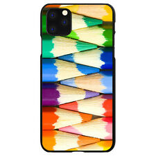 Hard Case Cover for Apple iPhone (Pick Model) Rainbow Colored Pencils