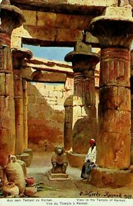 EGYPT VIEW IN THE TEMPLE OF KARNAK FINE UNUSED PPC