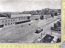 Cartolina - Postcard - Ancona - Stazione Ferroviaria - Tram - anni '50