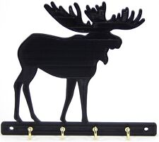 Moose Key Rack Holder Hanger Hunter Decor Entryway Organization Wall Hooks