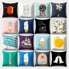 KQ_ Ice Cream Balloon Throw Pillow Case Sofa Bed Cushion Cover Home Decor Sanwoo