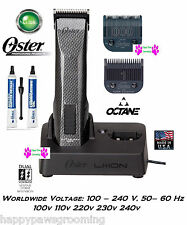 Oster OCTANE Cordless Lithium Ion A5/76 Cordless Clipper SET#000&1 DIAMOX Blades