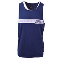Vans Off The Wall Men's Navy White Stripe Sleeveless Tank Top S07-A (Retail $30)