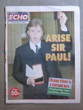 PAUL McCARTNEY Tribute ~ Liverpool Echo (Newspaper) 10th March 1997!