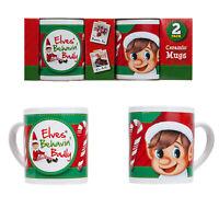 Christmas Elf Coffee Mug (Set Of 2) - Xmas Eve Stocking filler Tea Cup