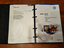 2001 01 VW Golf Owner's Manual Books and  Binder oem