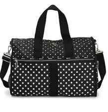 LeSportsac CR Large Weekender Bag Sun Multi Black C Black with White Polka Dots