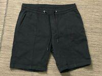 "Zara Adult Mens Small Chino Sweat Shorts Black 8"""