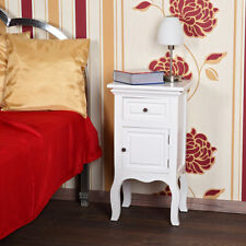 Landhaus Kommode Nachttisch Nachtschrank Schrank Weiß Tisch Shabby Nachtkonsole