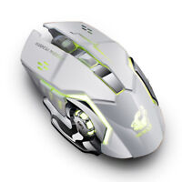X8 Wireless Rechargeable Silent LED Backlit USB Optical Ergonomic Gaming Mouse B