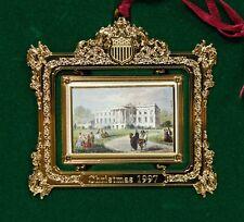 Vintage White House Gold 1997 Historical Association Metal Christmas Ornament