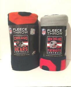 "NFL Singular Design  Soft Fleece Throw Blanket 50"" X 60"""
