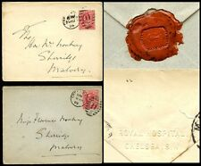 GB KE7 1903-04 ENVELOPES CHELSEA ROYAL HOSPITAL...DUPLEX 11.5 to MALVERN