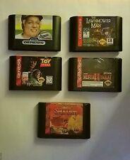 Sega Genesis Lot Of 5 Games Toy Story, Samuari Shodown, Mortal Kombat Ii & More