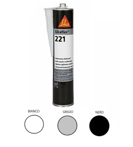 SikaFlex 221 Sigillante Poliuretanico Adesivo Colla Sika Flex Camper Sigilatura