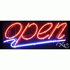 """Brand New """"Open"""" 32x13 Underlined Real Neon Sign w/Custom Options 10483"""