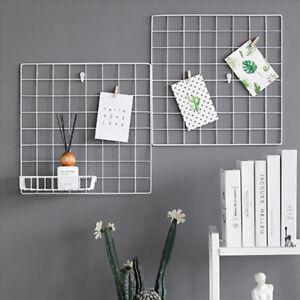 Multi-Function Iron Metal Grid Decor Photo Frame Wall Art Display Jq