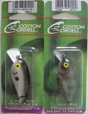 """2 - COTTON CORDELL Big O Lure - 2-1/4"""" - Smokey Joe & White Crappie"""