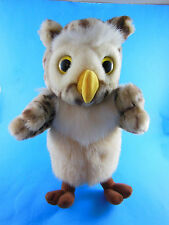 "Chosun Plush Hand Puppet Rare Hard to find Owl 11"" Yellow eyes beautifully made"
