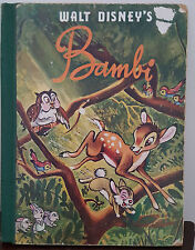 Walt Disney's Bambi - 1958 Felix Salten (retains cut out pictures)