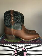 """Justin Gypsy 7"""" Teal Chellie Rustic Buffalo Cowboy Boots L9512 Womens Size 6"""