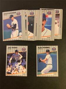 1989 Fleer Detroit Tigers Team Set 29 Cards With Update