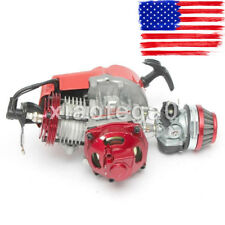 49CC 2-Stroke High Performance Engine Motor Pocket Mini Bike Scooter Atv Red US!